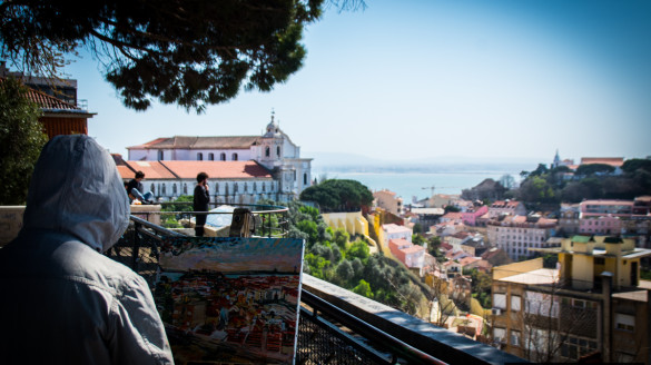 Punkt widokowy Miradouro de Nossa Senhora do Monte w Lizbonie