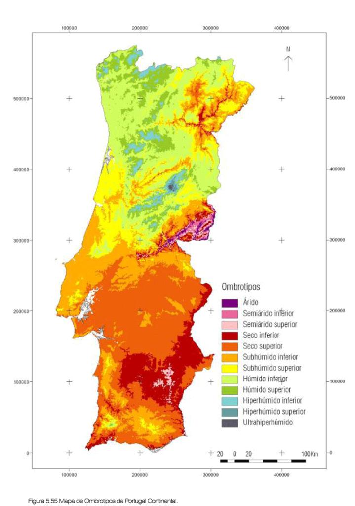 Różne typy klimatu w Portugalii