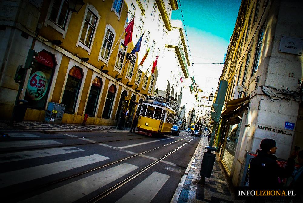 Tramwaj 28 Lizbona zwiedzanie Lizbony tramwajem trasa porady bilety zdjęcia przewodnik żółty tramwaj w Lizbonie