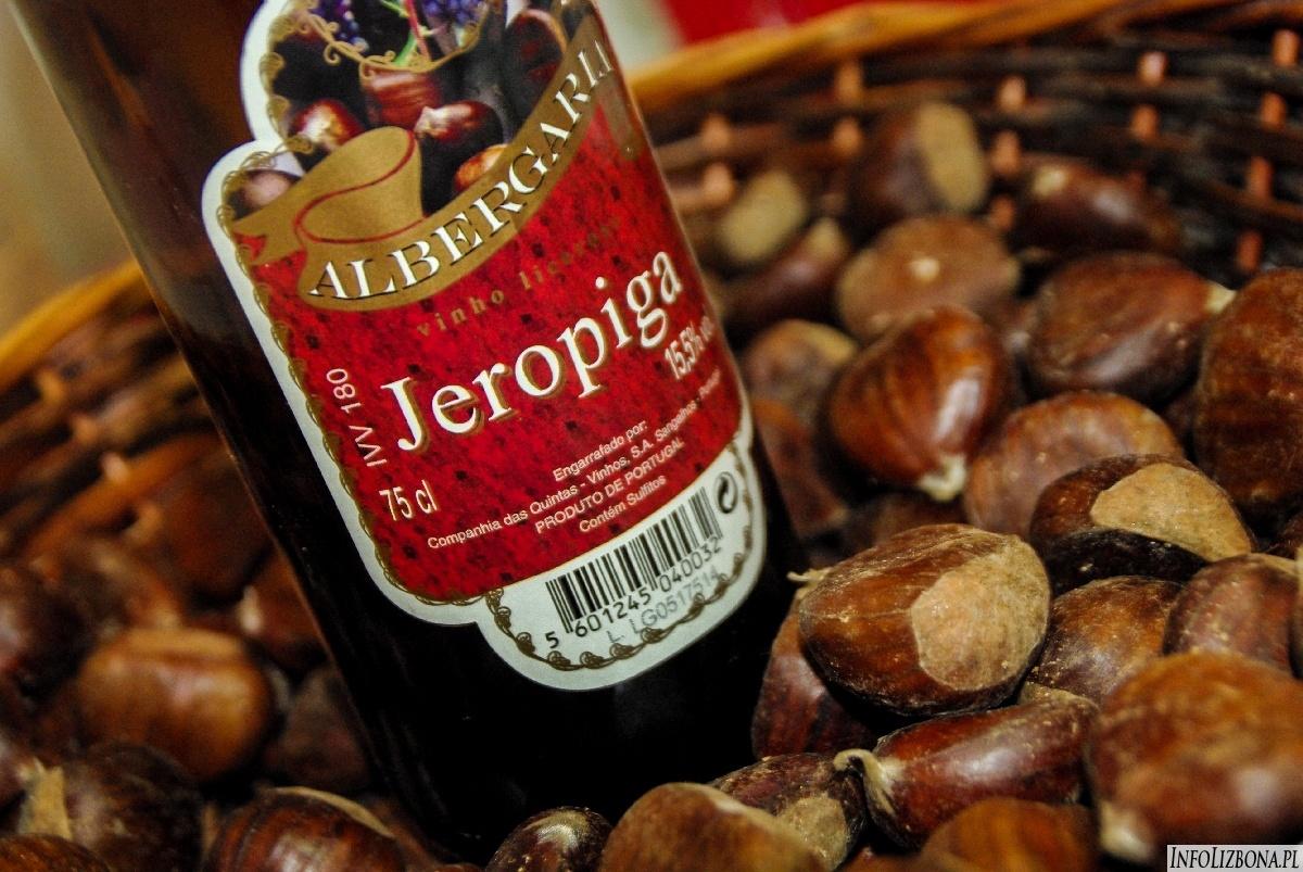 Święto świętego Marcina Portugalia Lisbona Lizbona pieczone kasztany młode wino foto