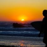 Zachód słońca nad plażą Guincho [Duże zdjęcia]