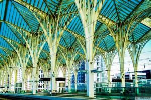 Foto_Stacja Oriente Dworzec Kolejowy Lizbona Park Narodów Zdjęcia Fotografie