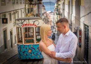 Ślub w Lizbonie Portugalii sesja zdjęcia fotograf Lizbona Portugalia wesele