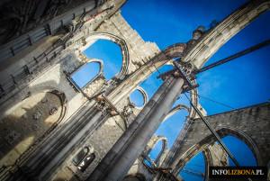 Klasztor Karmelitów i Kościół w Lizbonie Convento do Carmo Zwiedzanie Przewodnik Chiado Fotografie Zdjęcia Muzeum