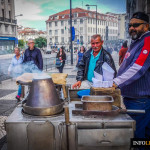 Pieczone kasztany już na ulicach Lizbony!