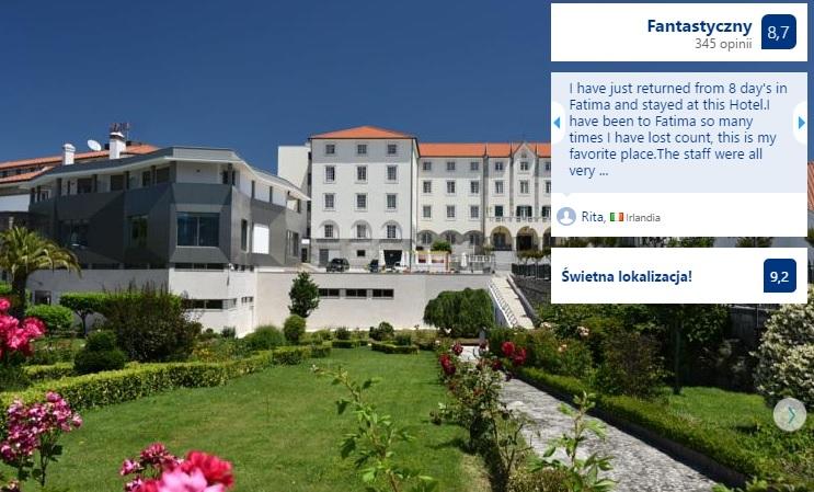 Polecane noclegi w Fatimie w Portugalii Hotele Domy Pielgrzyma Tanie Pensjonaty Ekonomiczne Dobre Sprawdzone Sanktuarium w Fatimie Przewodnik Opis Gdzie Spać 9