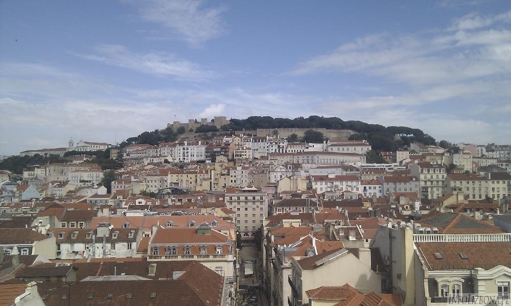 Elevador de Santa Justa,Winda Justyny Lizbona. Lizbona Windy