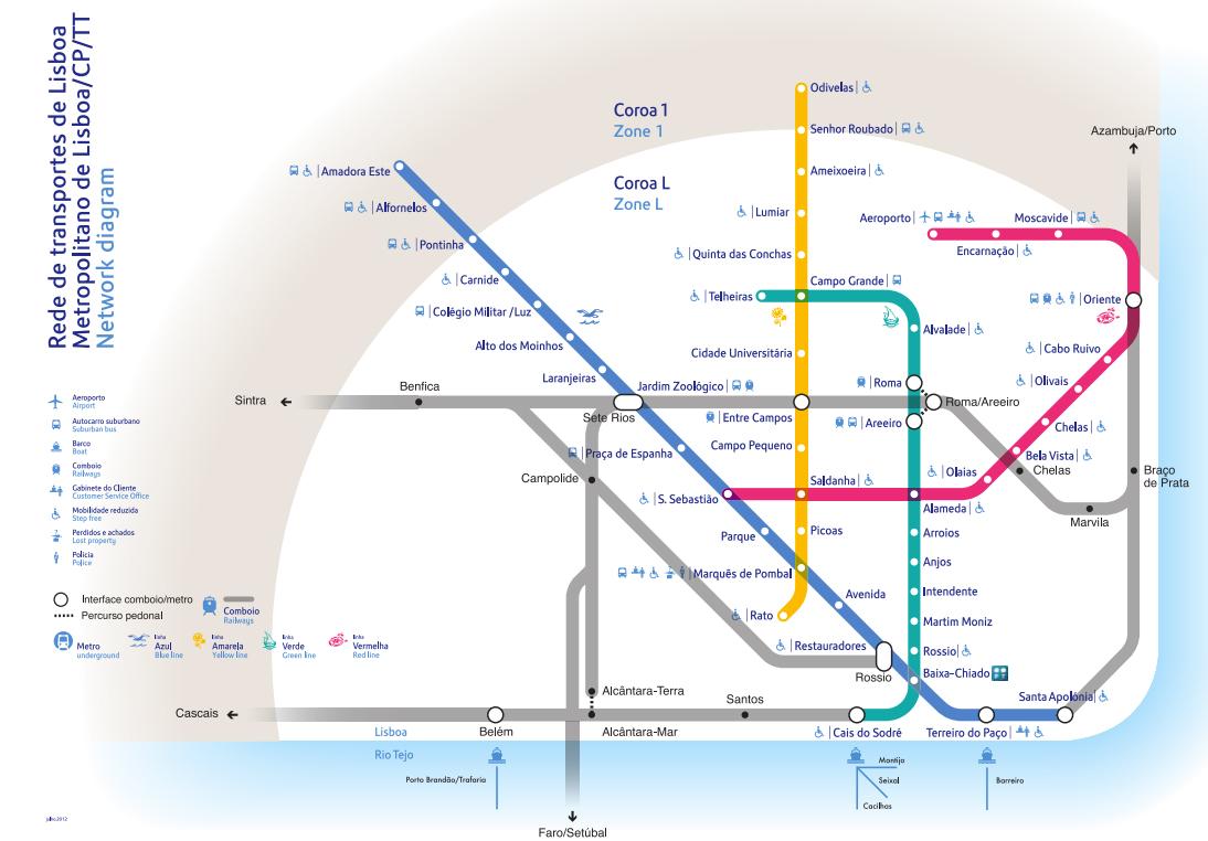 Lisbon metro new map mapa lisboa subway metro map nova
