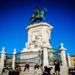 Pomnik Józefa I Praca do Comercio w Lizbonie Lizbona Baixa