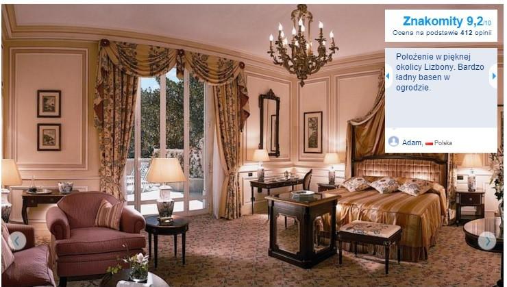 Lizbona Polecane najlepsze hotele pięciogwiazdkowe w Lizbonie noclegi Portugalia Lisbona 1