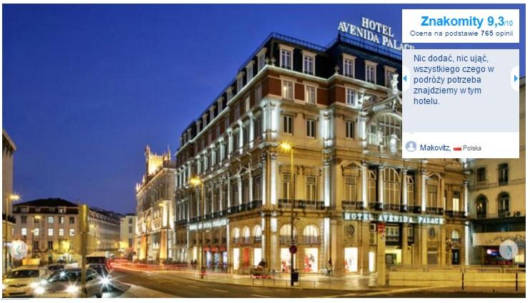 Lizbona Polecane najlepsze hotele pięciogwiazdkowe w Lizbonie noclegi Portugalia Lisbona 2