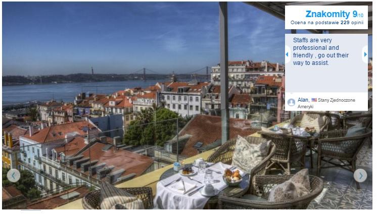 Lizbona Polecane najlepsze hotele pięciogwiazdkowe w Lizbonie noclegi Portugalia Lisbona
