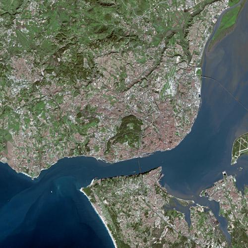 Ortfotomap of Lisbon Orto foto mapa Lizbona