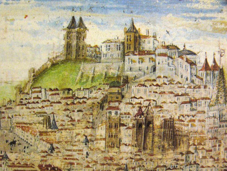 Zamek Jerzego Lizbona Portugalia zabytki