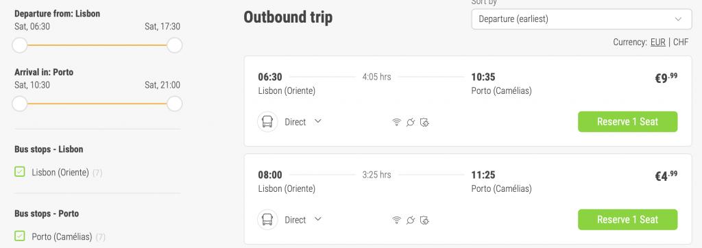 Lizbona - Porto pociągi koleje pociąg jak kupić bilet ile kosztują bilety Portugalia promocja polski przewodnik po Portugalii 2021 informacje wskazówki dojazd