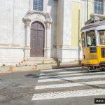 Lizbona Tramwaj 28 Żółty Historyczny Tramwaj numer 28 opis trasa bilety pierwszy przystanek skąd polski przewodnik tramwaje w Lizbonie jak kupić bilety informacje Lisbona