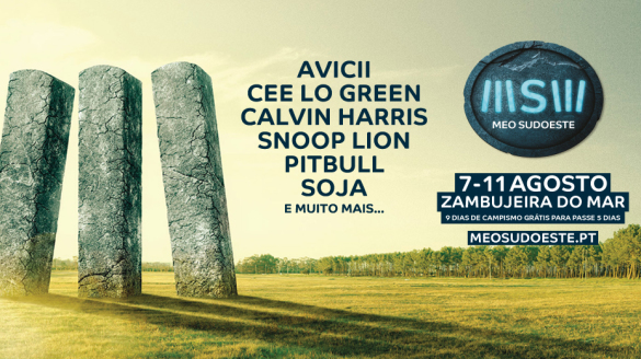 Meo Sudoeste 2013 festival line up Portugal