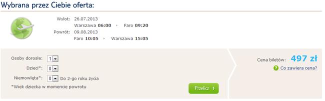 Tanie czartery Portugalia Polska wakacje 2013 1