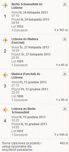 Tanie loty do Lizbony i na Madere easyJet 2013