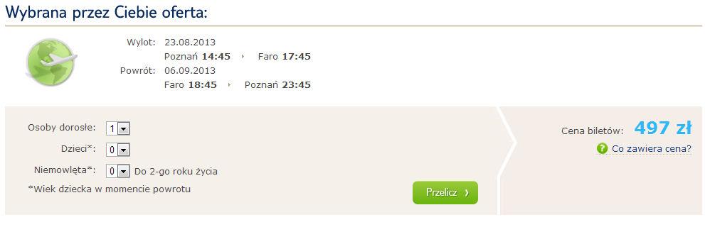 Tanie czartery Polska Portugalia Algarve TUI