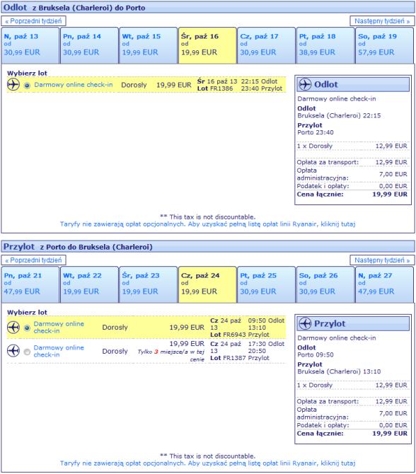 Tanie loty Warszawa Porto Rynair Wizz Air Portugalia 2013 1