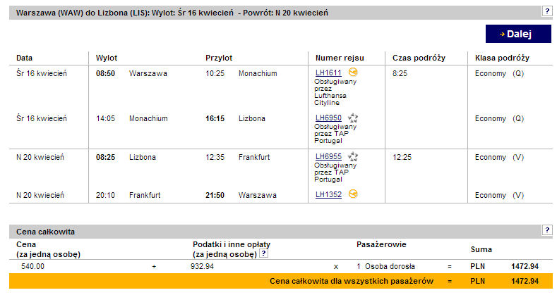 Tanie loty do Lizbony z Polski z Lufthansa 2