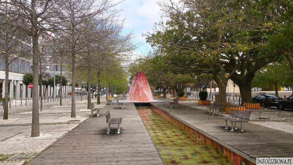 Fontanna wulkan Lizbona zdjęcia foto Lisbona wulkany