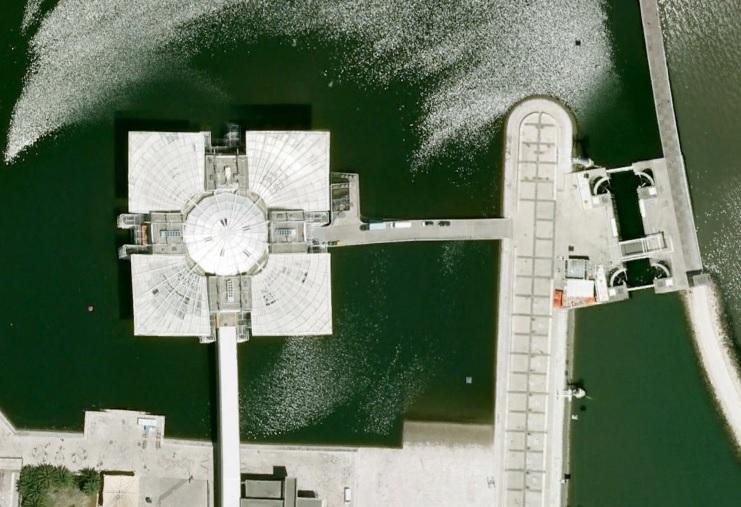 Lizbona z lotu ptaka zdjęcia satelitarne fotografie foto