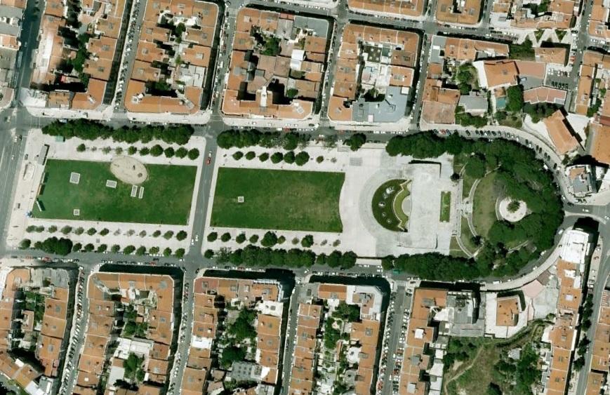 A8 Alameda Lizbona Ogród Alameda Dom Afonso Henriques foto Lisbona