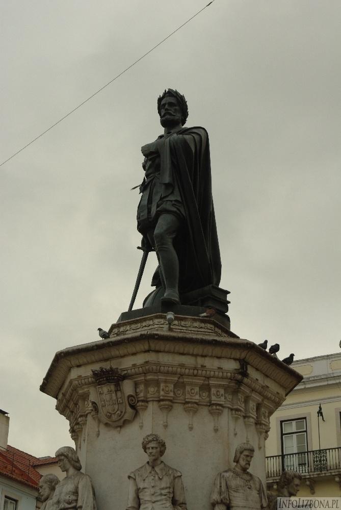 Lizbona Pomnik Luis de Camoes Bairro Alto Chiado Zabytki foto 1