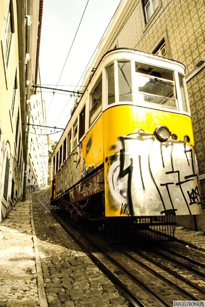 Winda Lavra Lizbona Lisbona Elevadores Windy Przewodnik Fotografie Zdjęcia