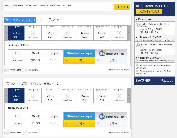 Tanie loty do Porto z Berlina grudzień listopad 2015 przewodnik po Porto