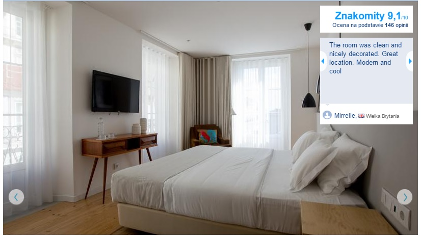 Lizbona tanie pensjonaty hoteliki hotele rezydencje guesthouse Lisbona pensjonat bed and breakfast polecane opisy przewodnik 1