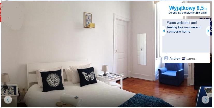 Lizbona tanie pensjonaty hoteliki hotele rezydencje guesthouse Lisbona pensjonat bed and breakfast polecane opisy przewodnik 2