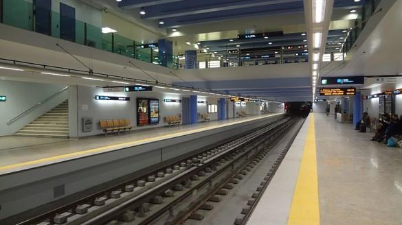 Stacja Reboleira Lizbona Metra Stacje Metro Foto