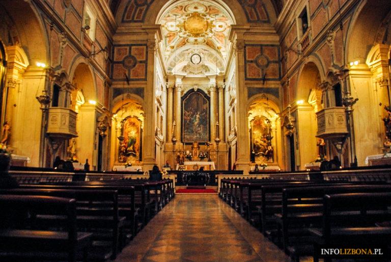 Lizbona Przewodnik Atrakcje i Zabytki turystyczna Kościoły Chiado Kościół Najświętszego Sakramentu świętego Sakramentu Zdjęcia Fotografie Fotos Opis Historia