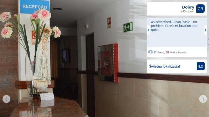 Polecane noclegi w Fatimie w Portugalii Hotele Domy Pielgrzyma Tanie Pensjonaty Ekonomiczne Dobre Sprawdzone Sanktuarium w Fatimie Przewodnik Opis Gdzie Spać 11