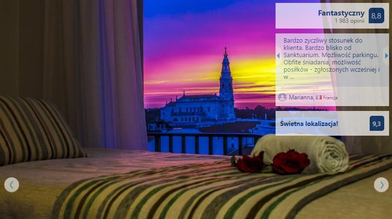 Polecane noclegi w Fatimie w Portugalii Hotele Domy Pielgrzyma Tanie Pensjonaty Ekonomiczne Dobre Sprawdzone Sanktuarium w Fatimie Przewodnik Opis Gdzie Spać 7