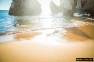Praia da Ursa Plaża Niedźwiedzia Lizbona Sintra Cabo da Roca beach Zdjęcia Przewodnik po Sintrze Lizbonie Portugalia Foto Photos Opis Dojazd Lokalizacja najlepsze plaże (23 z 34)