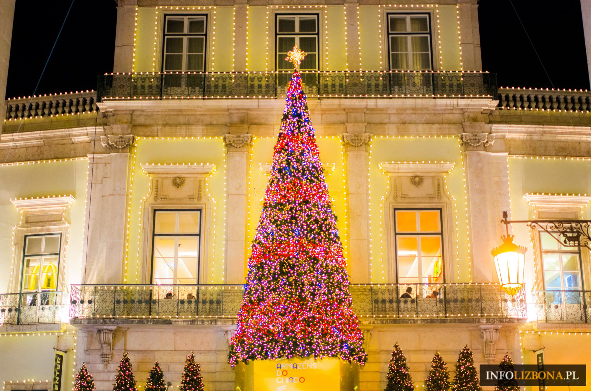 Lizbona Nowy Rok 2019 Boże Narodzenie 2018 Przewodnik po Świętach Życzenia Portugalskie Wesołych Świąt Kartka z Lizbony