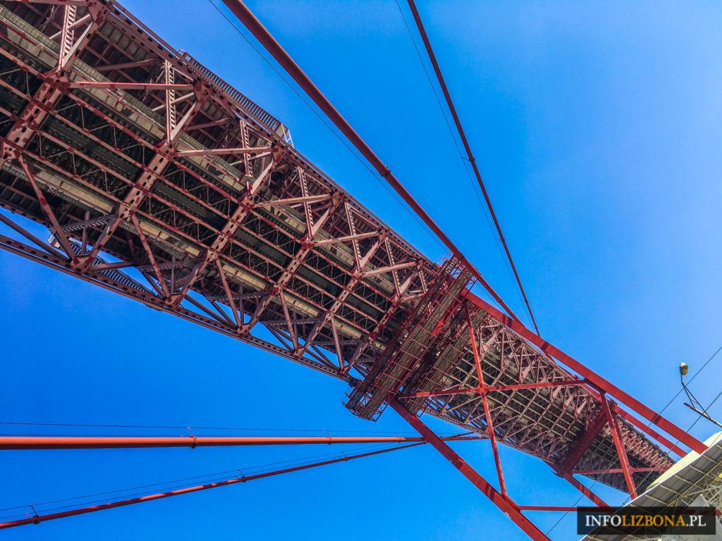 Lizbona Punkt Widokowy na Moście 25 Kwietnia w Lizbonie Centrum Interpretacyjne 7 Pilar Cena Bilet Dojazd Wstęp Zwiedzanie Ponte 25 de Abril Experiencia Pilar 7 Foto