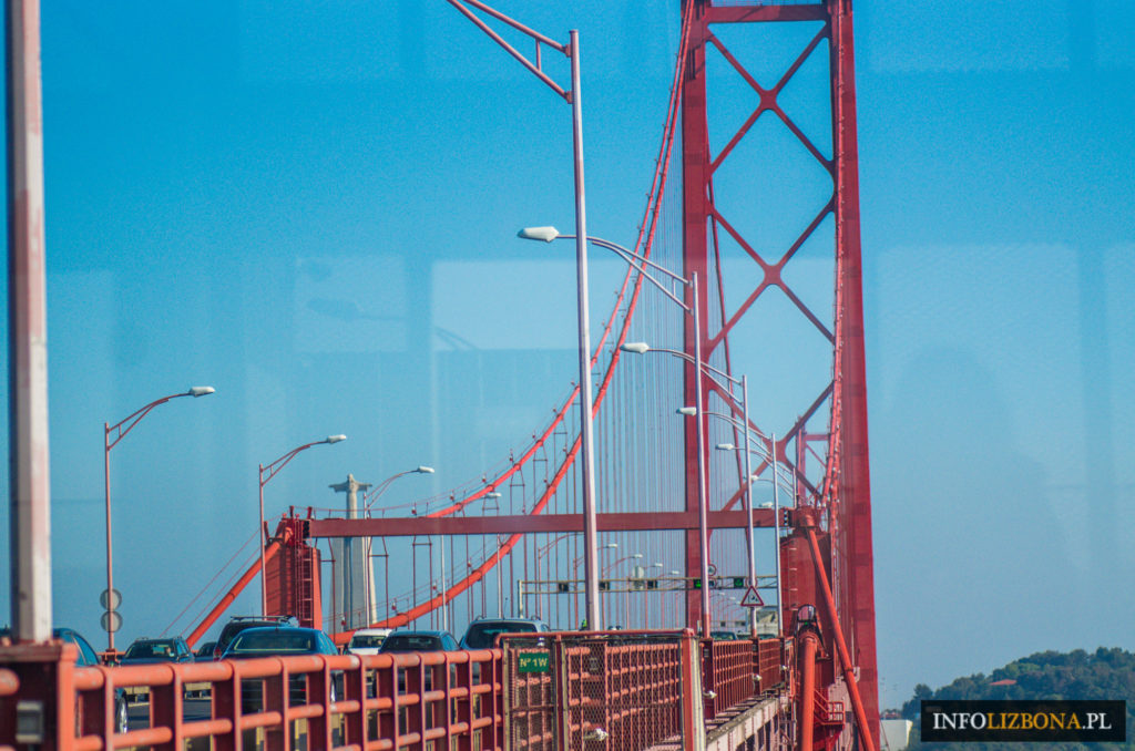Most 25 Kwietnia w Lizbonie Lizbona Lisbona Lisbon Ponte 25 Abril Cena Punkt widokowy Opis Historia Przejazd Przewodnik Zwiedzanie Portugalia Foto