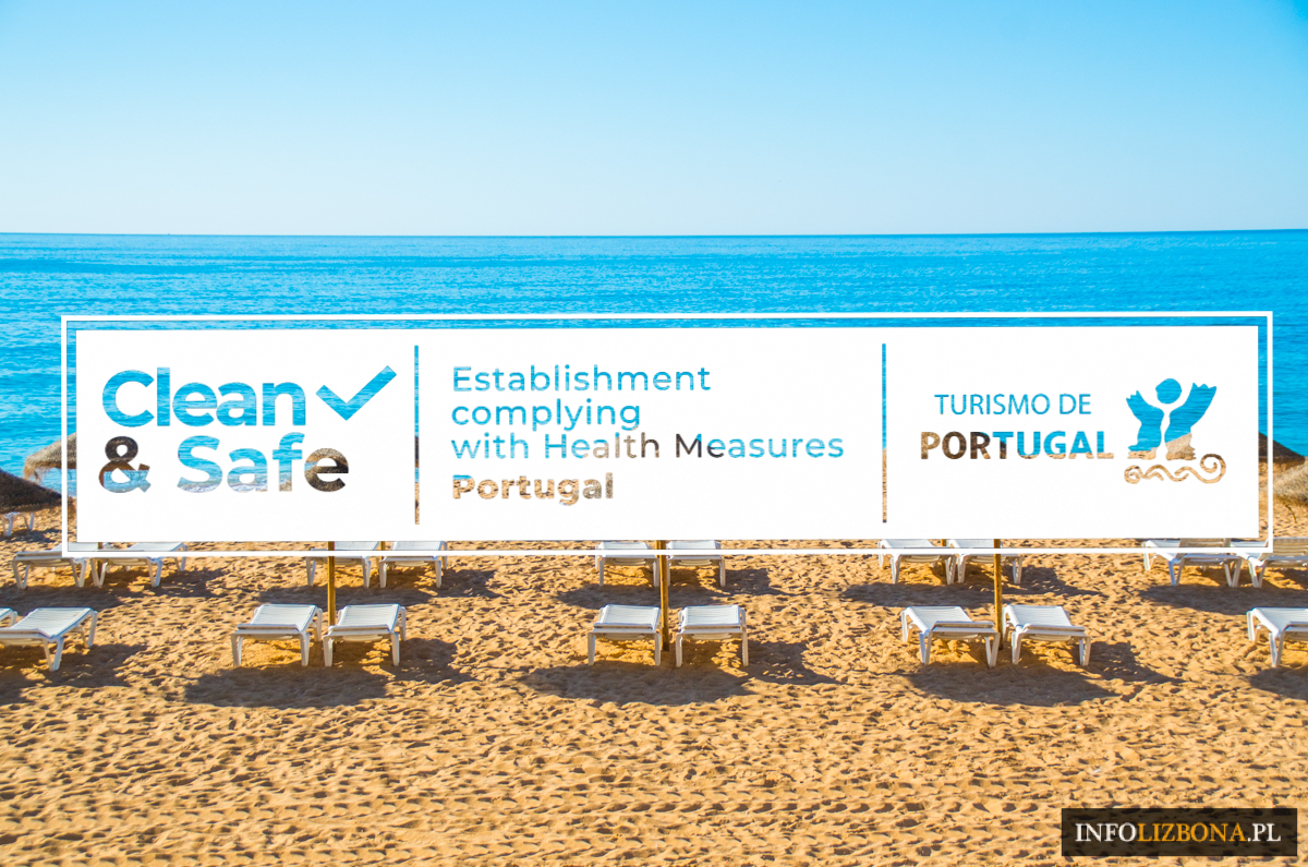 Portugalia Clean&Safe certyfikat bezpieczeństwa dla turystów turystyka w czasach wirusa Clean & Safe Portugal znak oznaczenia bezpieczeństwo wycieczki polski przewodnik po Lizbonie