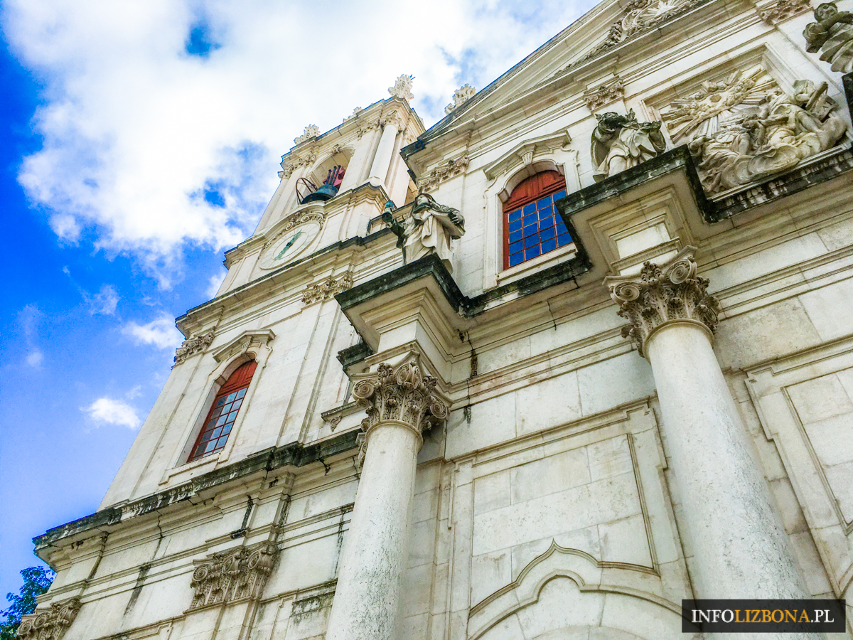 Bazylika Estrela w Lizbonie Polski Przewodnik Zwiedzanie Polscy Przewodnicy Basilica da Estrela Królewska Klasztor Najświętszego Serca Jezusowego Lizbona Kościół Portugalia
