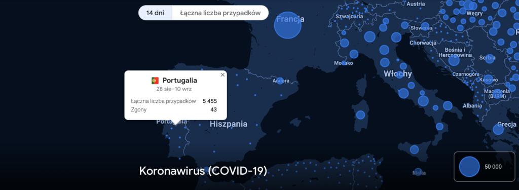 Porutgalia Stan Wyjątkowy Alarmowy Wrzesień 2020 nowe regulacje obostrzenia reguły podróżowanie zasady aktualne informacja statystyki bezpieczeństwo polscy przewodnicy po Lizbonie
