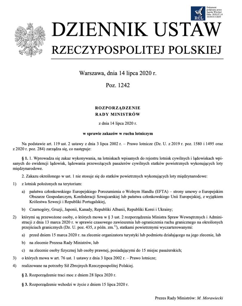 Zakaz lotów Portugalia Polska 14 lipca 2020 Polski Przewodnik po Lizbonie